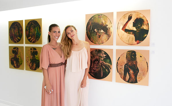 Linnea Frank and Ana Kuni at their art exhibition KUNIFRANK Season 2