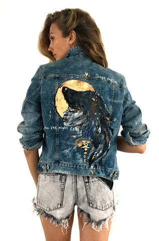 H&M denim hand painted by Ana Kuni