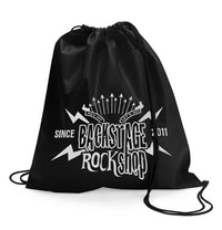 Backstage Rock Shop Since 2011 Black Sneaker Shoe Bag