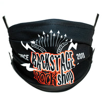 Backstage Rock Shop, Since 2011 Original Logo Face Mask