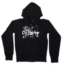 Children of Bodom, COBHC, Women's Distressed Zip Hoodie
