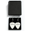 Nightwish Plectrum Earrings (White)