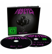 The 69 Eyes, West End (CD + Blu-Ray + Women's Lips T-shirt + Patch + Sticker + Signed Postcard)