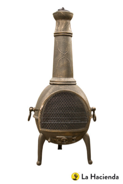 La Hacienda Sierra Cast Iron Chimnea Extra Large in bronze finish