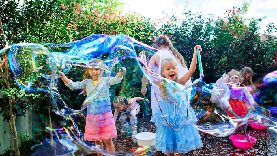 bubble themed kids birthday party