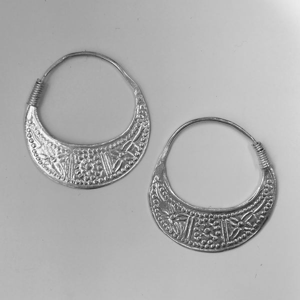 embossed hmong earrings