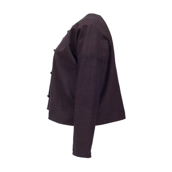 Indigo workwear jacket sustainably made in north Vietnam