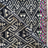 Handwoven geometric black and white scarf