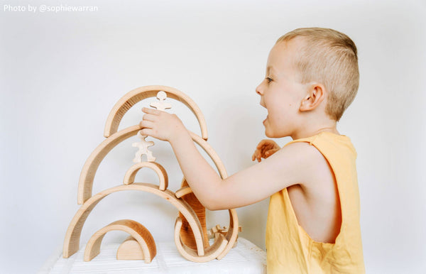 Flockmen Wooden Toys Montessori Less is More Creativity