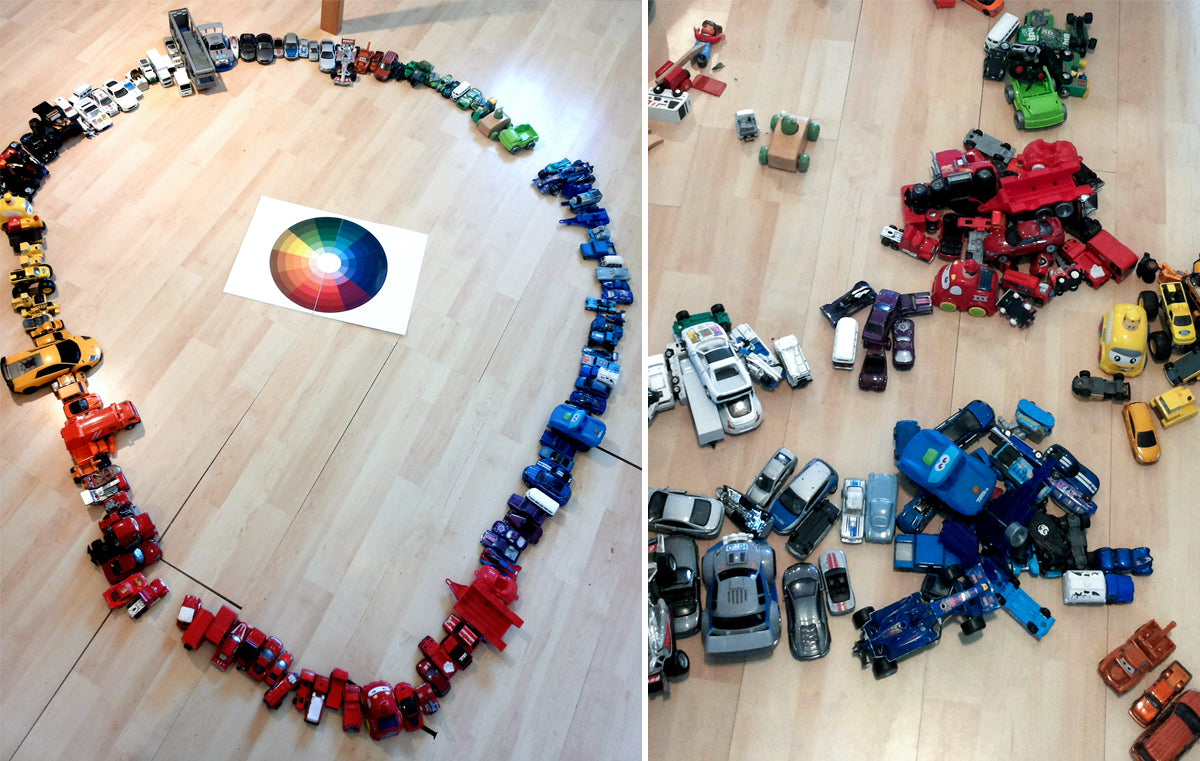 Colour Wheel With Toy Cars