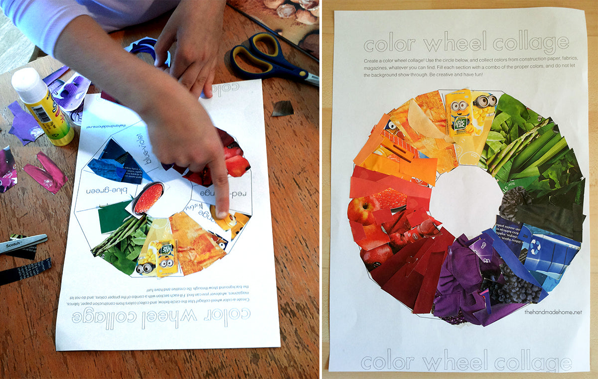 Colour Wheel From Magazines