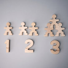 Load image into Gallery viewer, Flockmen Wooden Numbers (1-10)