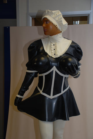Demanding Maids uniform with inflatable boobs