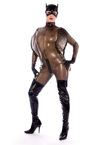Discipline Catsuit with restrictve sleeve covers