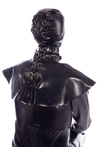 Closed face hood with shoulder cape