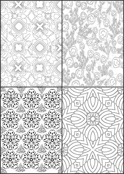 """Color Me Calm""  30 Geometric Design Patterns Coloring Book for Adults To Print PDF Digital Download"