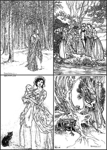 Quot Color Me Calm Quot 30 Arthur Rackham Fairy Tale Design