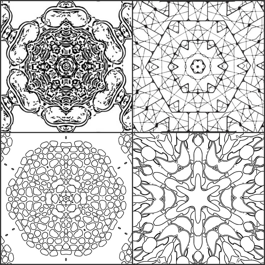 """Download """"Color Me Calm"""" 30 Kaleidoscope Design Patterns Coloring Book for Adul - Paper Rose Cottage"""