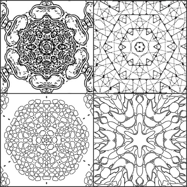 Quot Color Me Calm Quot 30 Kaleidoscope Design Patterns Coloring