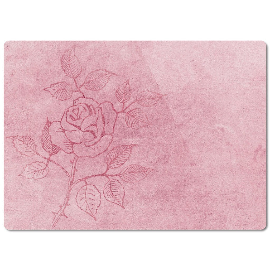 "Glass Cutting Board ""Roses"""