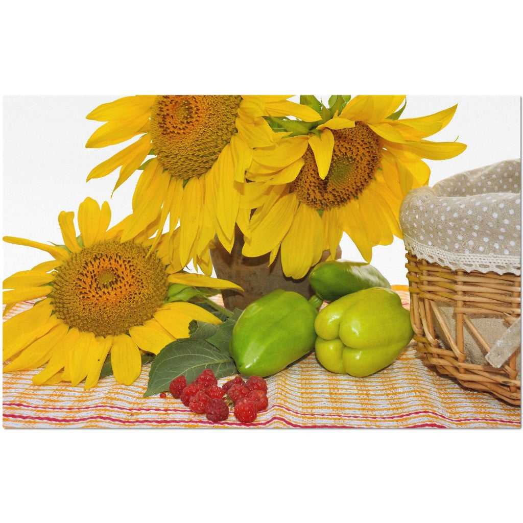 Laminated Sunflowers Placemat 11 x 17""