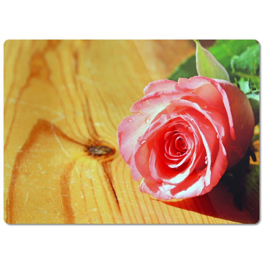 "Glass Cutting Board ""Rose"""