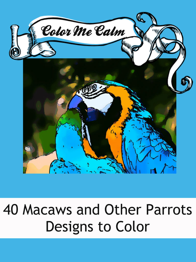 Color Me Calm 40 Parrot Design Patterns Coloring Book For Adults To Print PDF
