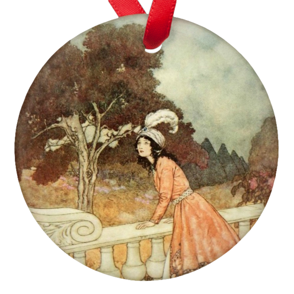 Edmund Dulac Beauty and the Beast Porcelain Ornament