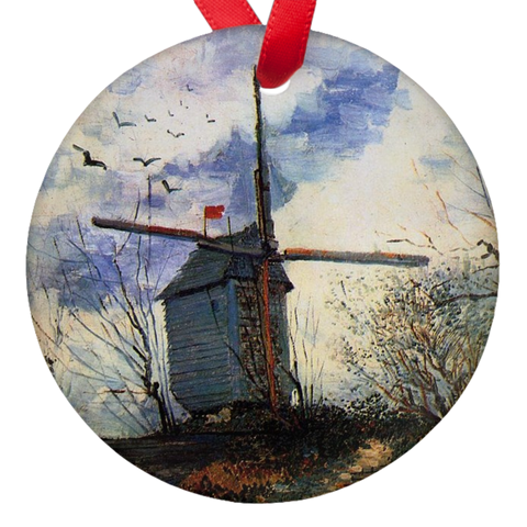 Vicent Van Gogh Windmill Porcelain Ornaments