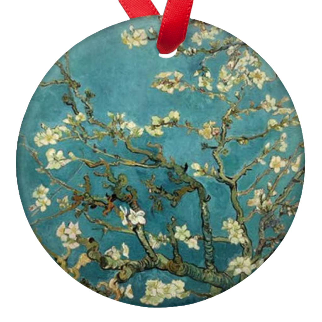 Vincent Van Gogh Almond Blossoms Porcelain Ornaments