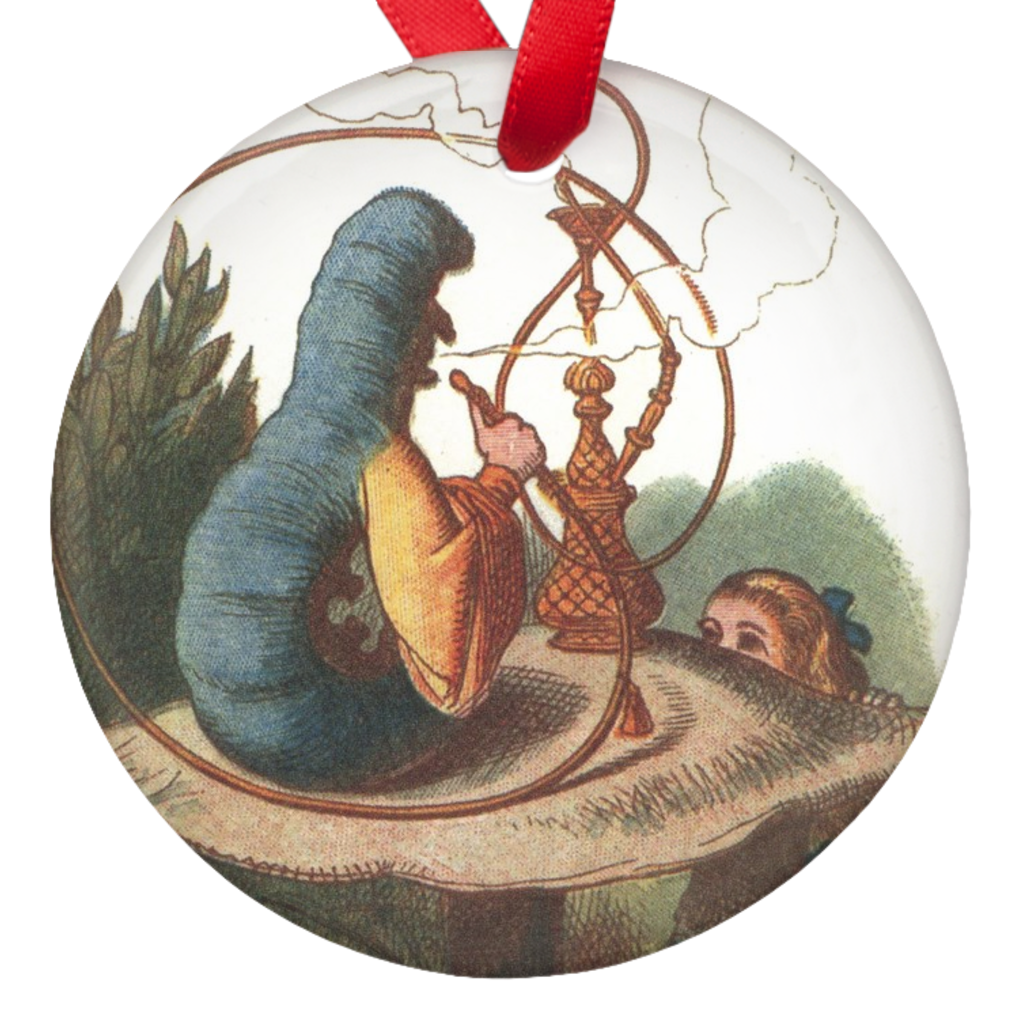 Alice in Wonderland Catterpillare Porcelain Ornaments