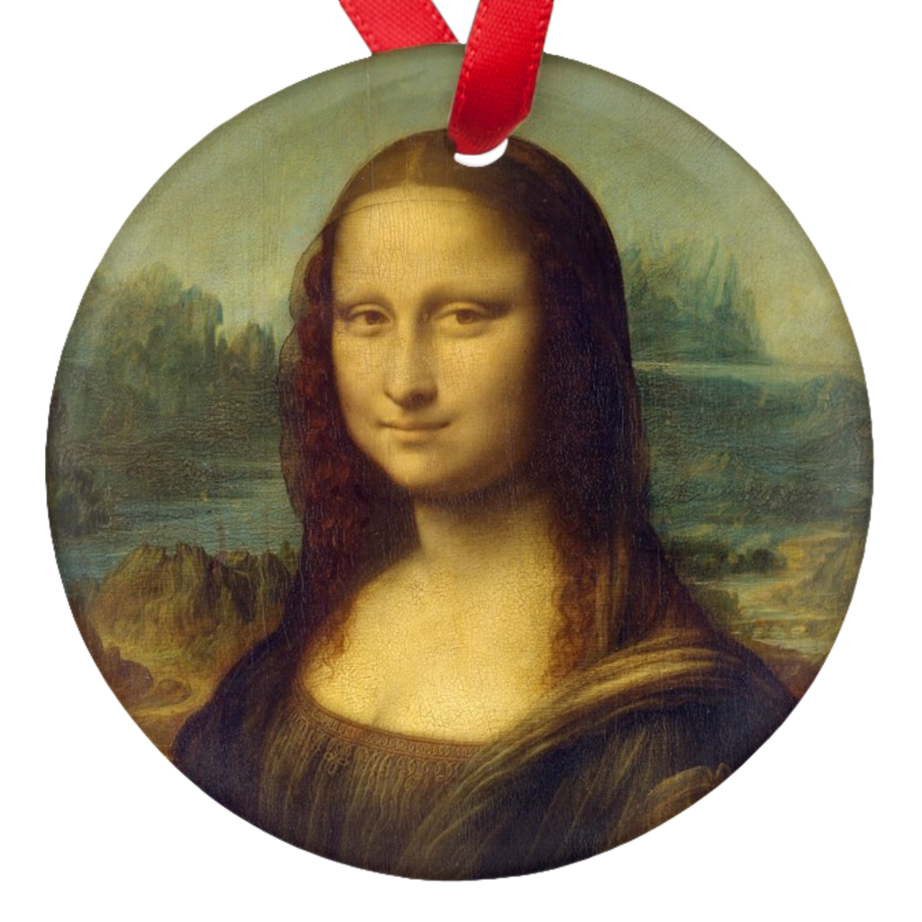 Mona Lisa Da Vinci Double Sided Porcelain Ornaments