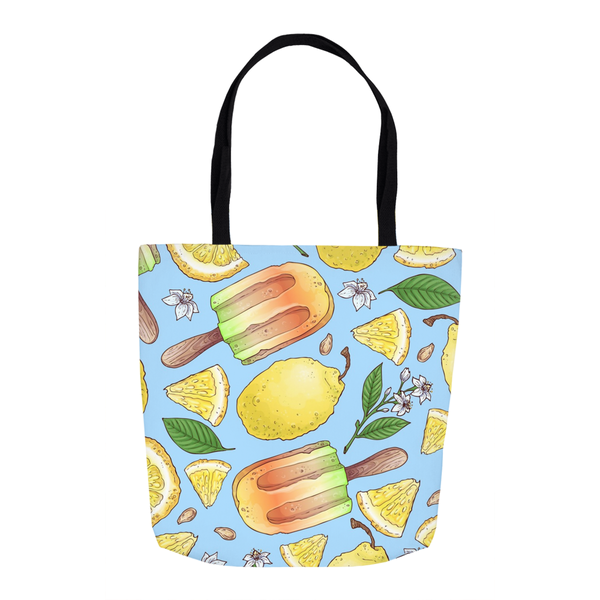 Summer Lemon Ice Tote Bag
