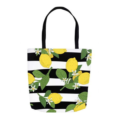 Summer Lemons Tote Bag 16""