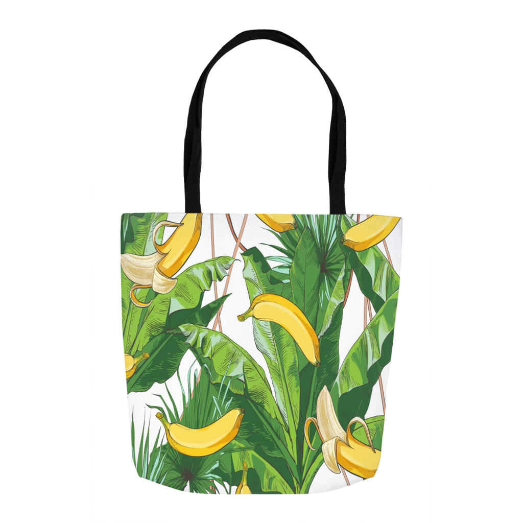 Tropical Bananas Tote Bag 16""