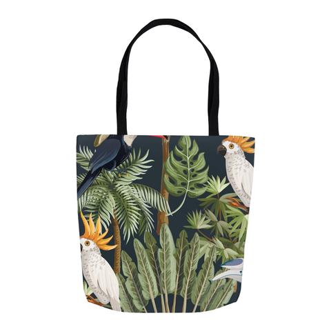 Tropical Birds Tote Bag 16""