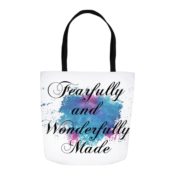 Fearfully and Wonderfully Made Watercolor Tote Bag
