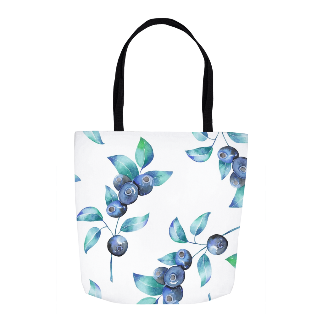 Blueberries Summer Tote Bag