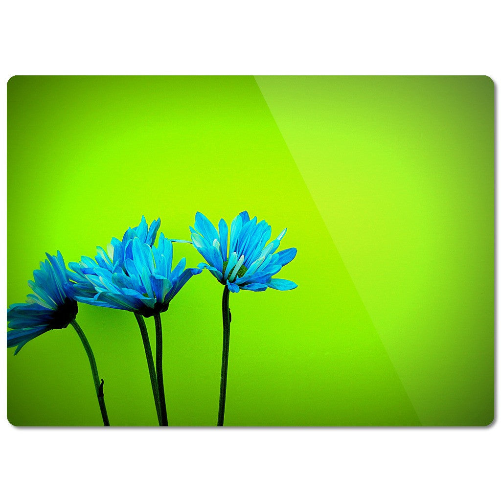 "Glass Cutting Board ""Flowers"""