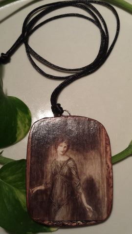Vintage Art Image by Arthur Rackham on Hand Made Pendant