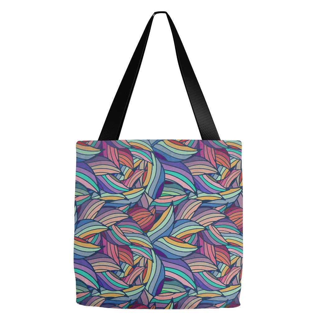 Flowers and Leaves Print Tote 18 x 18""