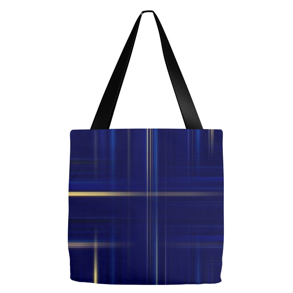 Plaid Print Tote Bag 18 x 18""