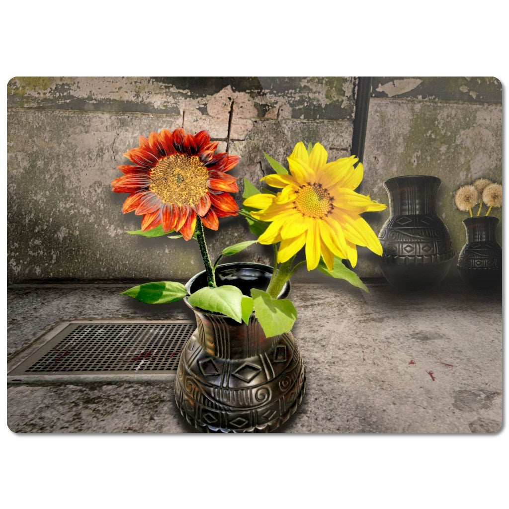 "Glass Cutting Boards ""Sunflowers"""