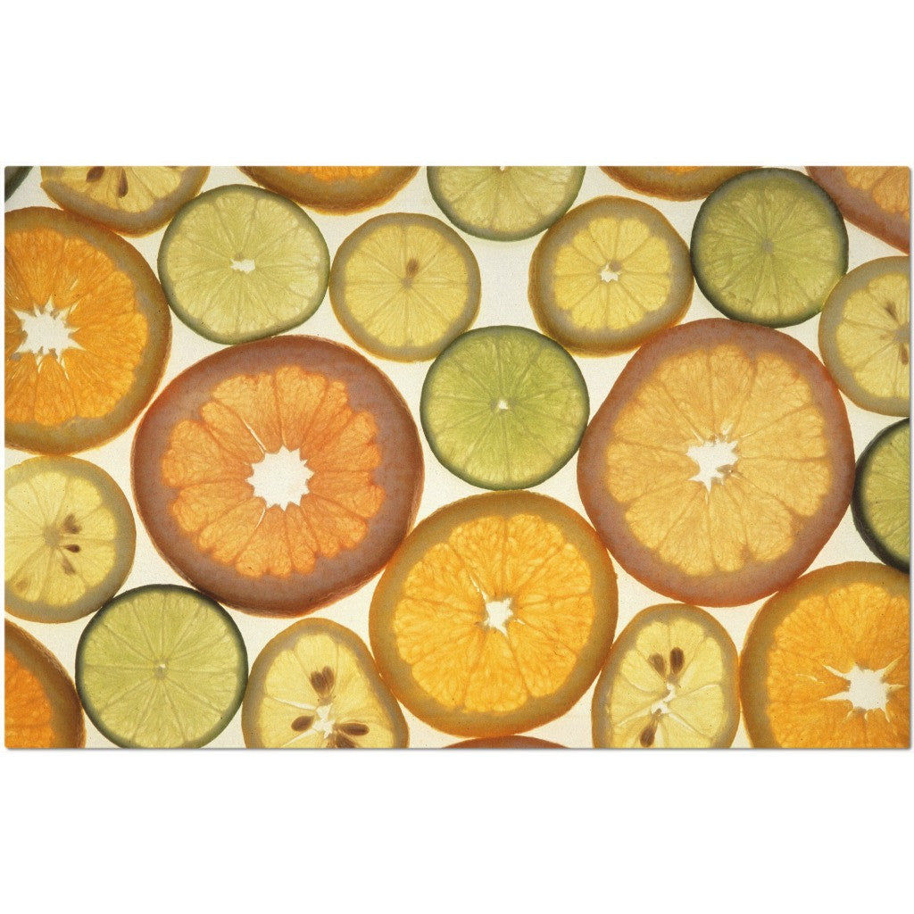 Laminated Citrus Placemat 11 x 17""