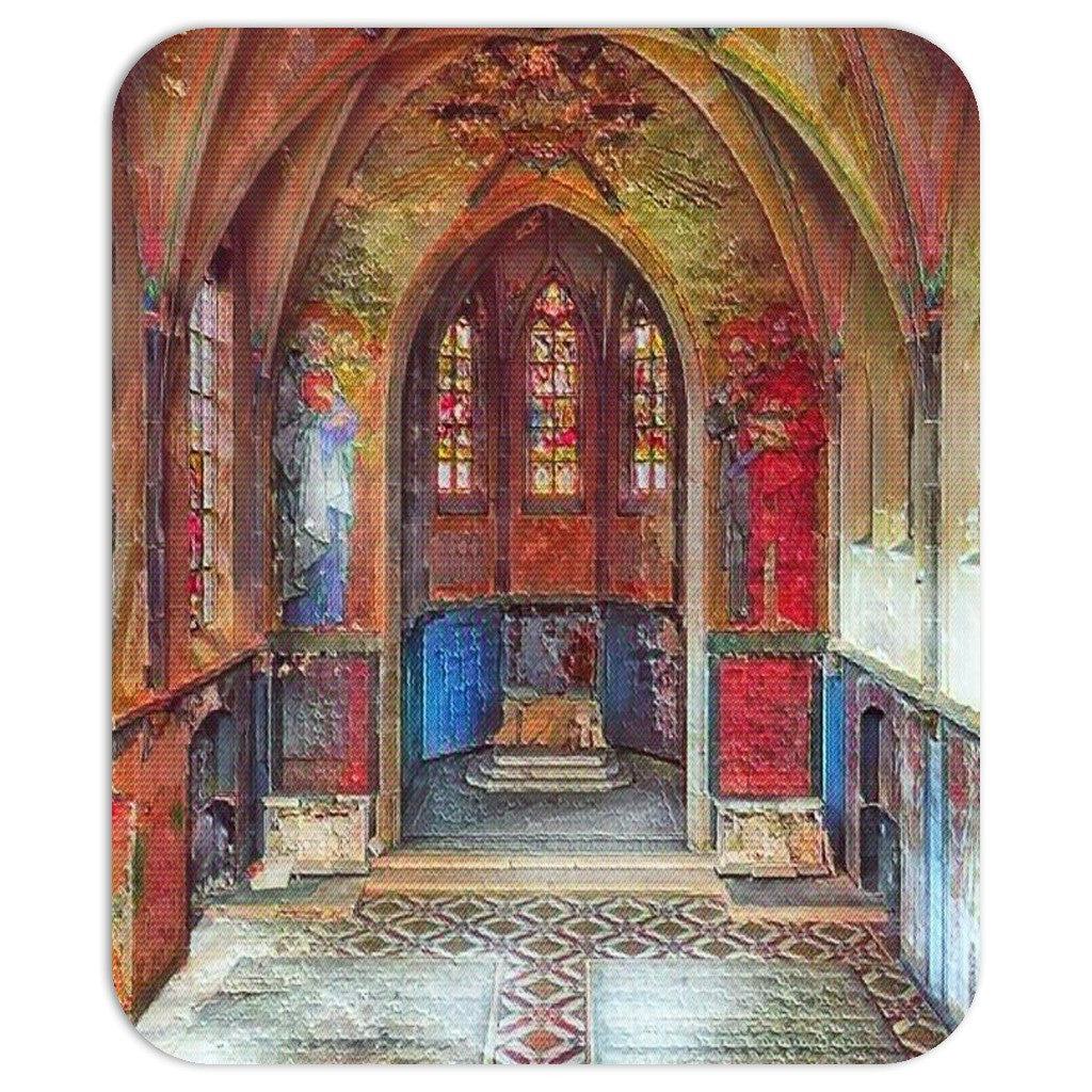 Gothic Church Mouse Pad