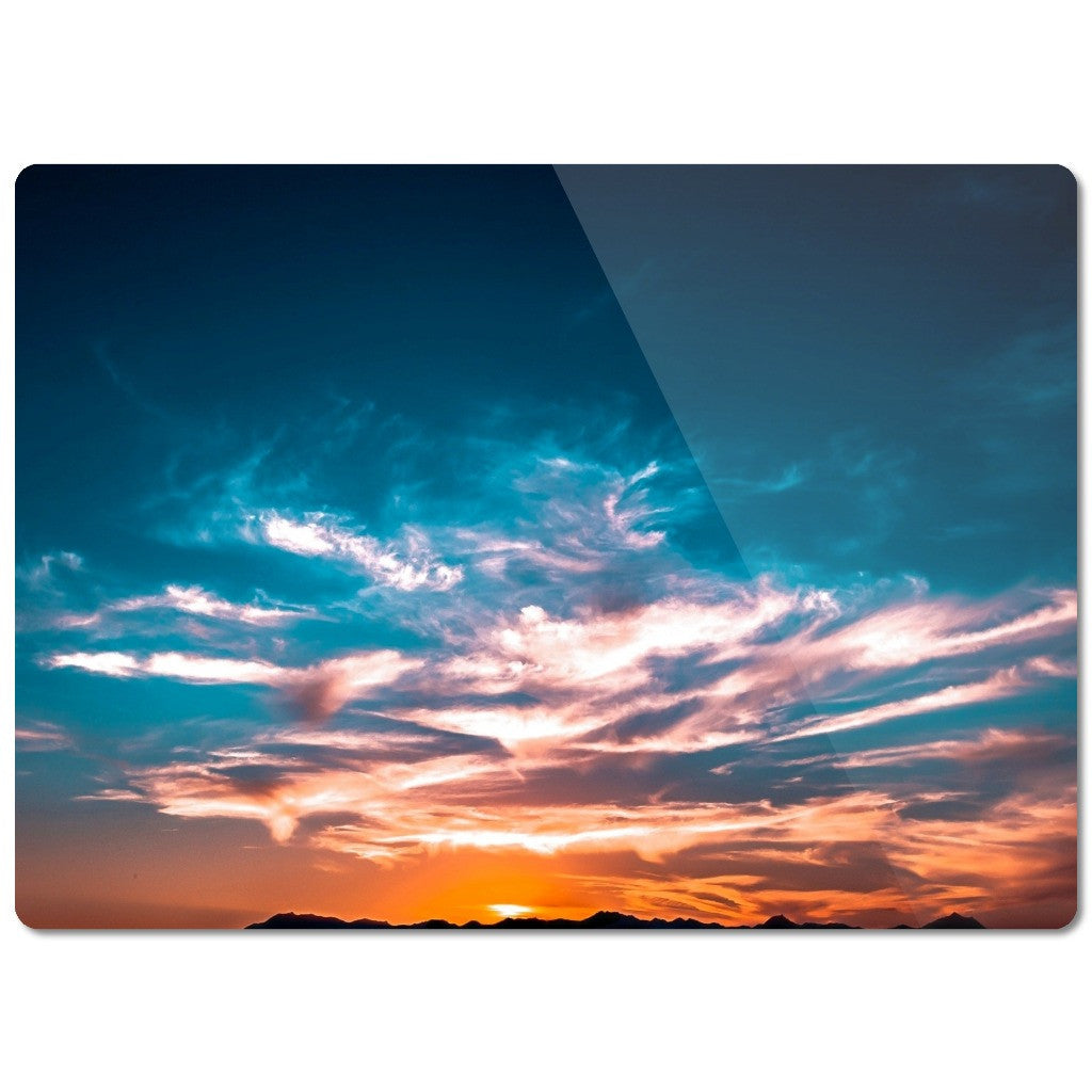 "Glass Cutting Board ""Sunset"""