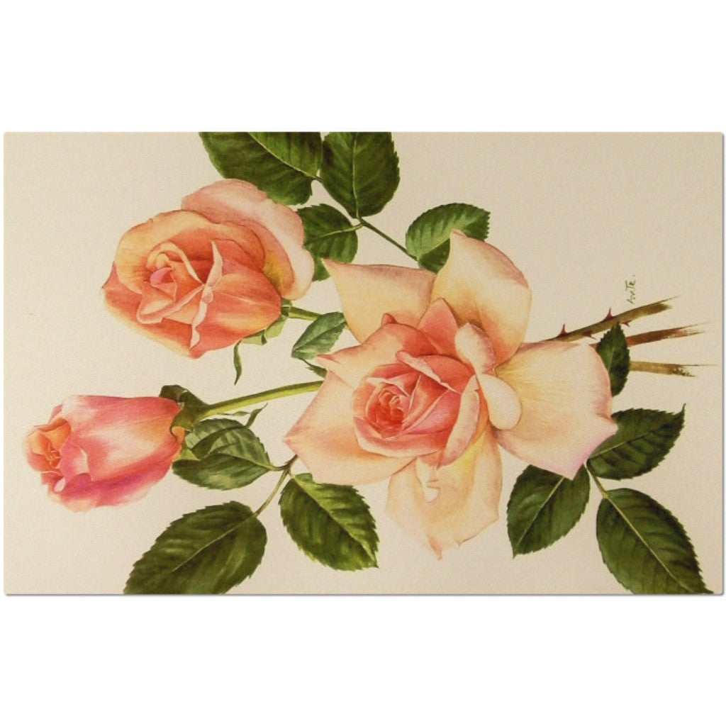 Laminated Roses Placemat 11 x 17""