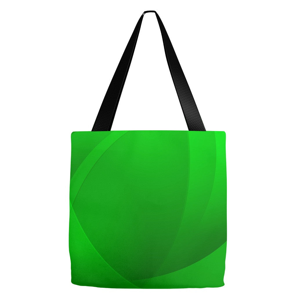 Green Print Tote Bag 18 x 18""