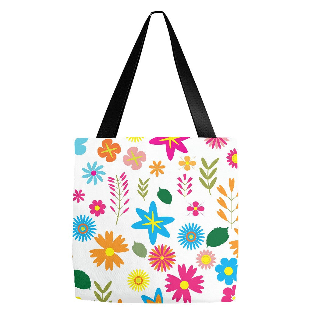 Flowers Tote Bag 18 x 18""