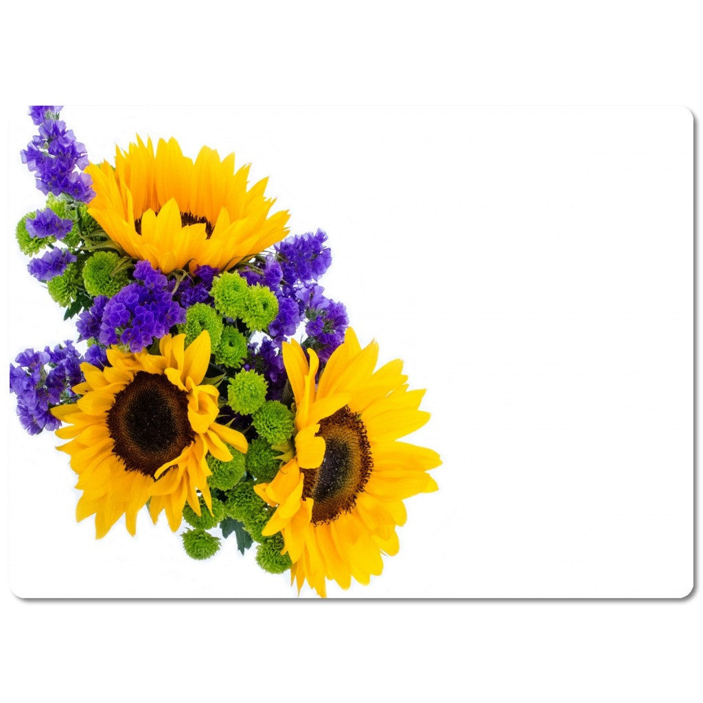 "Glass Cutting Board ""Sunflowers"""